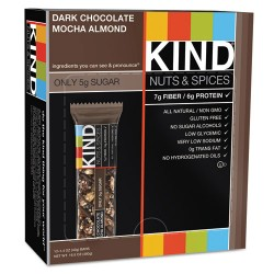 KIND - 18554 - Nuts and Spices Bar, Dark Chocolate Mocha Almond, 1.4 oz Bar, 12/Box