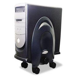 Kantek - CS270B - Kantek Deluxe Adjustable CPU Stand - Black