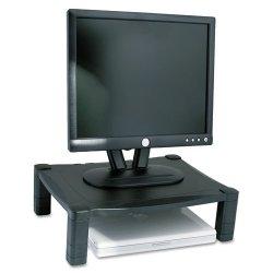 Kantek - MS400 - Kantek Single Platform Adjustable Monitor Stand - 60 lb Load Capacity - Flat Panel Display Type Supported - Black