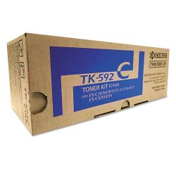 Kyocera - TK592C - Kyocera TK-592C Original Toner Cartridge - Laser - 5000 Pages - Cyan - 1 Each