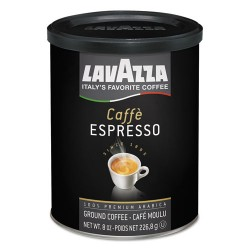 Lavazza - 1450 - Caffe Espresso Ground Coffee, Dark Roast, 8 oz Can