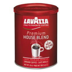 Lavazza - 2709 - Premium House Blend Ground Coffee, Medium Roast, 10 oz Can