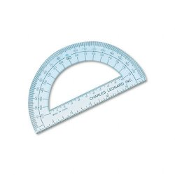 Charles Leonard - 77106 - Open Center Protractor, Plastic, 6 Ruler Edge, Clear, Dozen
