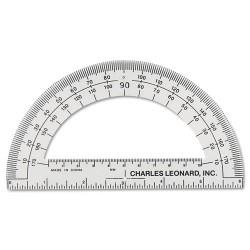 Charles Leonard - 77106 - Open Center Protractor, Plastic, 6 Ruler Edge, Clear