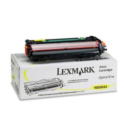 Lexmark - 10E0042 - Lexmark Toner Cartridge - Laser - 10000 Pages - Yellow - 1 Pack