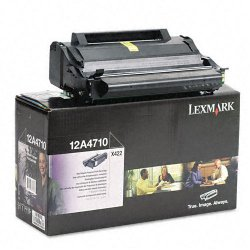 Lexmark - 12A4710 - Lexmark Black Toner Cartridge - Laser - 6000 Pages - 1 Each