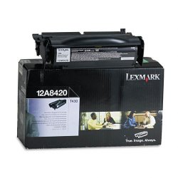 Lexmark - 12A8420 - Lexmark Toner Cartridge - Laser - Standard Yield - 6000 Pages - Black - 1 Each