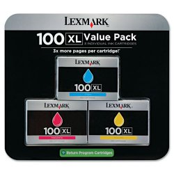 Lexmark - 14N0684 - Lexmark No. 100XL Original Ink Cartridge - Inkjet - Cyan, Magenta, Yellow - 3 / Pack