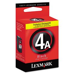 Lexmark - 18C1954 - Lexmark No.4A Black Ink Cartridge - Inkjet - 175 Page - Black