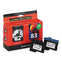 Lexmark - 18L0860 - Lexmark No. 82/83 Ink Cartridges - Inkjet - Black, Color