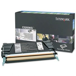Lexmark - C5200KS - Lexmark Toner Cartridge - Laser - Standard Yield - 1500 Pages - Black - 1 Each