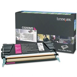 Lexmark - C5200MS - Lexmark Magenta Return Program Toner Cartridge - Laser - Standard Yield - 1500 Pages - 1 Each