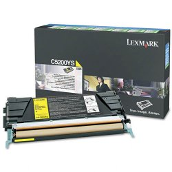 Lexmark - C5200YS - Lexmark Toner Cartridge - Laser - Standard Yield - 1500 Pages - Yellow - 1 Each