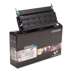 Lexmark - C5342CX - Lexmark Original Toner Cartridge - Laser - 7000 Pages - Cyan - 1 Pack