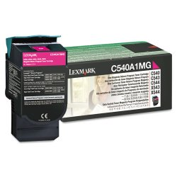 Lexmark - C540A1MG - Lexmark Return Magenta Toner Cartridge - Laser - 1000 Page - 1 Each