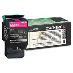 Lexmark - C540H1MG - Lexmark Return High Capacity Magenta Toner Cartridge - Laser - 2000 Page - 1 Each
