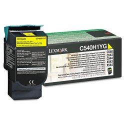 Lexmark - C540H1YG - Lexmark Original Toner Cartridge - Laser - 2000 Pages - Yellow - 1 Each