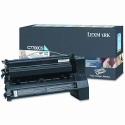 Lexmark - C7700CS - Lexmark Toner Cartridge - Laser - Standard Yield - 6000 Pages - Cyan - 1 Each