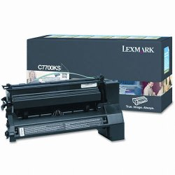 Lexmark - C7700KS - Lexmark Black Return Program Toner Cartridge - Laser - 6000 Page - 1 Each
