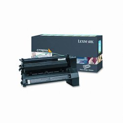 Lexmark - C7700YH - Lexmark Toner Cartridge - Laser - High Yield - 10000 Pages - Yellow - 1 Each
