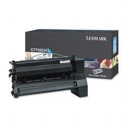 Lexmark - C7702CH - Lexmark Cyan High Yield Toner Cartridge - Laser - Cyan