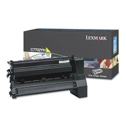 Lexmark - C7702YH - Lexmark Yellow High Yield Toner Cartridge - Laser - Yellow