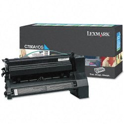 Lexmark - C780A1CG - Lexmark Toner Cartridge - Laser - 6000 Pages - Cyan - 1 Each