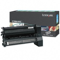 Lexmark - C780A1KG - Lexmark Return Program Black Toner Cartridge - Laser - 6000 Page - 1 Each