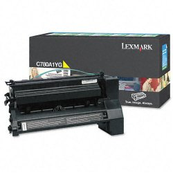 Lexmark - C780A1YG - Lexmark Return Program Yellow Toner Cartridge - Laser - 6000 Pages - 1 Each