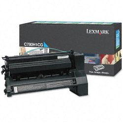 Lexmark - C780H1CG - Lexmark Return Program High Yield Cyan Toner Cartridge - Laser - High Yield - 10000 Page - 1 Each
