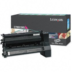 Lexmark - C780H1MG - Lexmark Toner Cartridge - Laser - 10000 Pages - Magenta - 1 Each