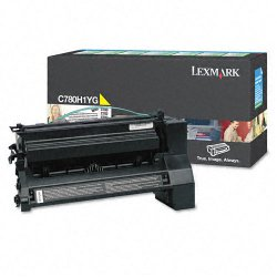 Lexmark - C780H1YG - Lexmark Toner Cartridge - Laser - High Yield - 10000 Pages - Yellow - 1 Each