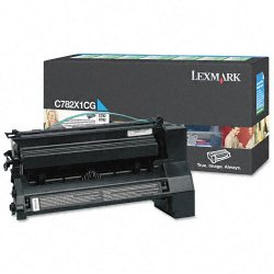 Lexmark - C782X1CG - Lexmark Extra High Yield Return Program Cyan Toner Cartridge - Laser - 15000 Page - 1 Each