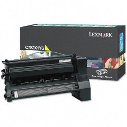 Lexmark - C782X1YG - Lexmark Extra High Yield Return Program Yellow Toner Cartridge - Laser - 15000 Page - 1 Each