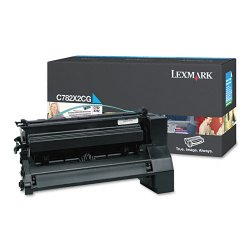 Lexmark - C782X2CG - Lexmark Extra High Yield Cyan Toner Cartridge for C782n, C782dn, C782dtn and X782e Printers - Laser - 15000 Page - 1 Each