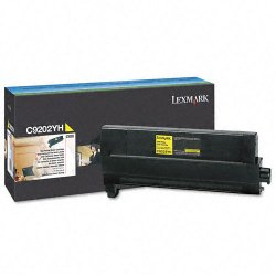 Lexmark - C9202YH - Lexmark Yellow Toner Cartridge - Laser - 14000 Page - 1 Each