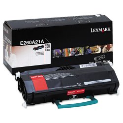 Lexmark - E260A21A - Lexmark Original Toner Cartridge - Laser - 3500 Pages - Black - 1 Each