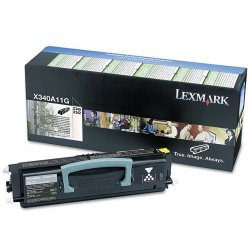 Lexmark - X340A11G - Lexmark Black Return Program Toner Cartridge - Laser - 2500 Page - 1 Each