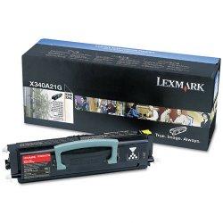 Lexmark - X340A21G - Lexmark Black Toner Cartridge - Laser - 2500 Page - Black
