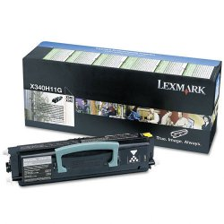 Lexmark - X340H11G - Lexmark Black High Yield Return Program Toner Cartridge - Laser - 6000 Page - 1 Each