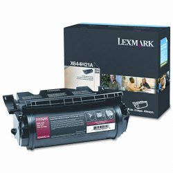 Lexmark - X644H21A - Lexmark Black High Yield Toner Cartridge - Laser - 21000 Page - 1 Each
