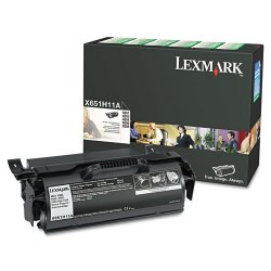 Lexmark - X651H11A - Lexmark Original Toner Cartridge - Laser - 25000 Pages - Black - 1 Each