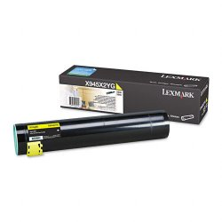 Lexmark - X945X2YG - Lexmark High Yield Yellow Toner Cartridge - Laser - 22000 Page - 1 Each