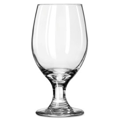 Libbey - 10031009055118 - Perception Glass Stemware, Banquet Goblet, 14oz, 6 1/2 Tall