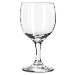 Libbey - 10031009370082 - Embassy Flutes/Coupes & Wine Glasses, Wine Glass, 8.5oz, 5 5/8 Tall