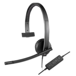 Logitech - 981-000570 - Logitech USB Headset Mono H570e - Mono - USB - Wired - 31.50 Hz - 20 kHz - Over-the-head - Monaural - Supra-aural - Noise Cancelling, Electret Microphone
