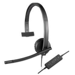 Logitech - 981-000570 - Logitech USB Headset Mono H570e - Mono - USB - Wired - 31.50 Hz - 20 kHz - Over-the-head - Monaural - Supra-aural - Noise Cancelling, Electret Microphone