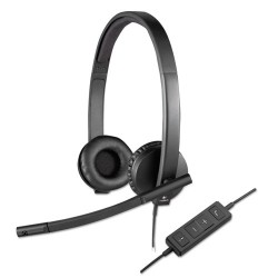 Logitech - 981-000574 - Logitech USB Headset Stereo H570e - Stereo - USB - Wired - 31.50 Hz - 20 kHz - Over-the-head - Binaural - Supra-aural - Noise Cancelling, Electret Microphone