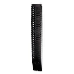 Lathem - 257EX - Lathem 25-Pocket Expandable Time Card Rack - 25 Pocket(s) - 27 Height x 3.9 Width x 2 Depth - Wall Mountable - Black - Plastic - 1Each