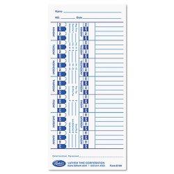 Lathem - E100 - Time Card for Lathem Models 900E/1000E/1500E/5000E, White, 100/Pack